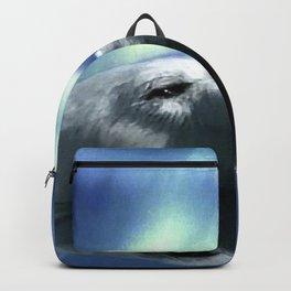 Aurora Dreaming - Swimming Polar Bear Backpack