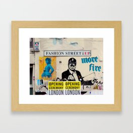Fashion Street Framed Art Print
