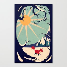Fox roaming around II Canvas Print