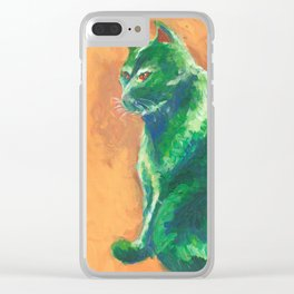 Green stalker #2 Clear iPhone Case