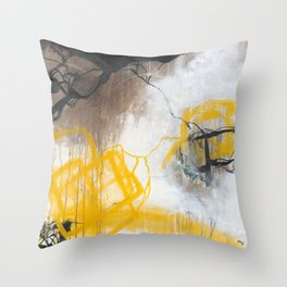 Tension - Square Abstract Expressionism Throw Pillow