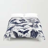 bats Duvet Covers featuring BATS by DIVIDUS