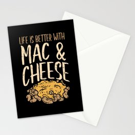 Life Is Better With Mac & Cheese Macaron Noodle Stationery Cards