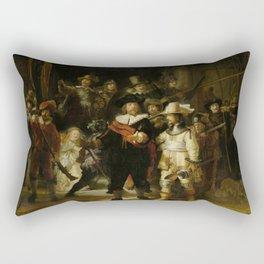 "Rembrandt Harmenszoon van Rijn, ""The Night Watch"", 1642 Rectangular Pillow"