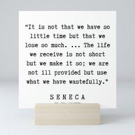 35 | Seneca Quotes | 190929 Mini Art Print