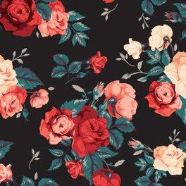 Bath Mat - Flower Fashion Print - ROSENOVA
