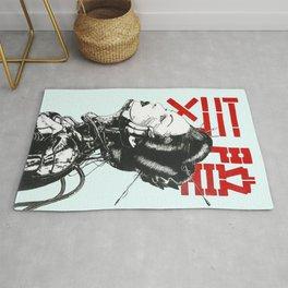 Vaporwave Japanese Cyberpunk Urban Rug