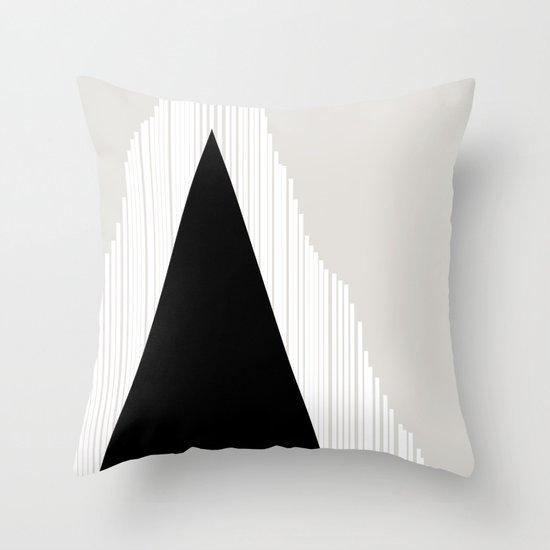Abstract Mountain Throw Pillow