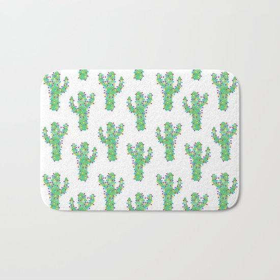 Festive Cactus Bath Mat