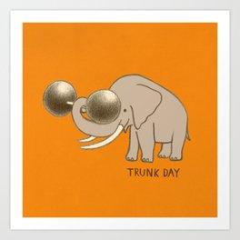 Trunk Day Art Print