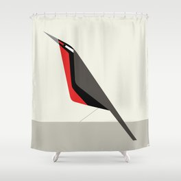 Loica chilena / Long-tailed meadowlark Shower Curtain