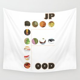 Japanese Food Bubble Zoom Wall Tapestry