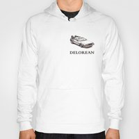 delorean Hoodies featuring Delorean by ruvaen