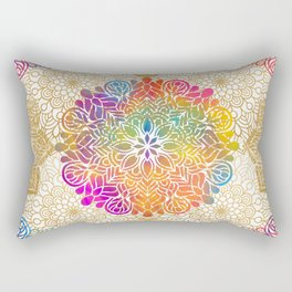 Beautiful Colorful Bohemian Mandala Pattern Rectangular Pillow