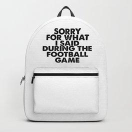 Soccer joke. For football fans. Backpack