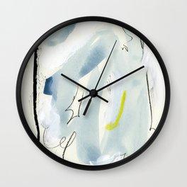 Silk Chiffon Blue Wall Clock