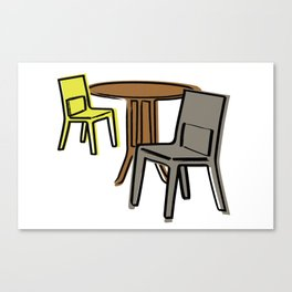 Table & Chairs 03 Canvas Print