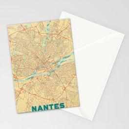 Nantes Map Retro Stationery Cards