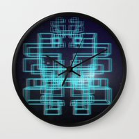 80s Wall Clocks featuring 80s style by Six Pixel Design