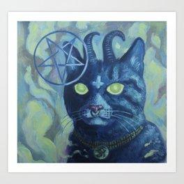 Unholy Kitty Art Print