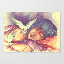 The nicest thing for me is sleep, then at least I can dream. Canvas Print