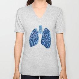 Botanical Lungs - Breathe Deep  Unisex V-Neck