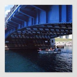 Under the Charlevoix Bridge Canvas Print
