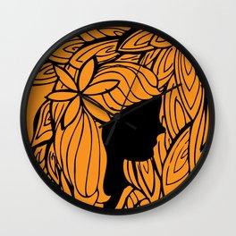 Para uma menina com uma flor Wall Clock