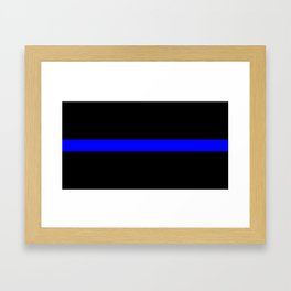Thin Blue Line Police Flag Framed Art Print
