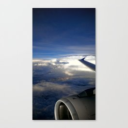 (#26) Flying Above the Turbulence Canvas Print