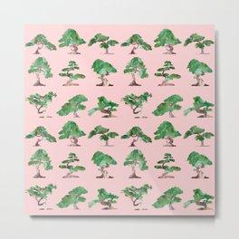 Bonsais Pink Metal Print