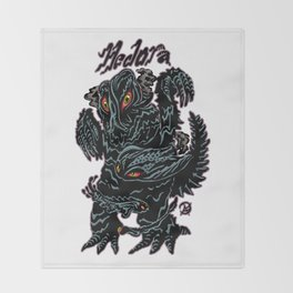 Hedorah Kaiju Print FC Throw Blanket
