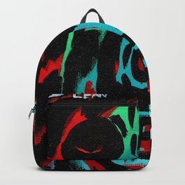 Kal - Abstract expressionism portrait Backpack