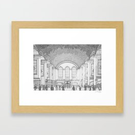 Grand Central Station, 1930's Framed Art Print