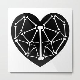 Heart bones Metal Print