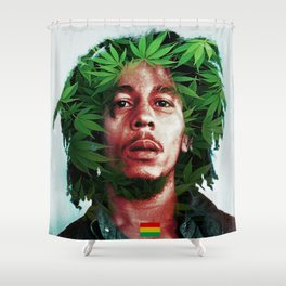 Burning And Lootin Shower Curtain
