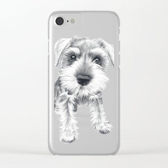 Schnozz the Schnauzer Clear iPhone Case