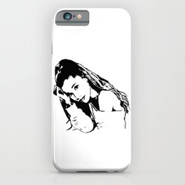 TEENAGE GIFTS OF A PORTRAIT 0F AN AMERICAN FEMALE POP STAR,ACTRESS AND SONGWRITER FROM MONOFACES  iPhone Case