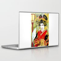 kitsune Laptop & iPad Skins featuring Lady Kitsune by Stormwolf Studios