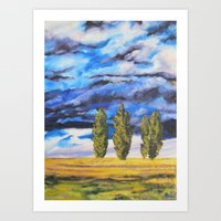 Three Sentinels Art Print