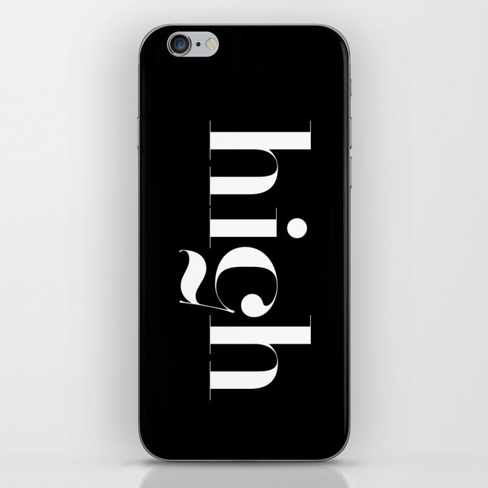 Typography iPhone Skin