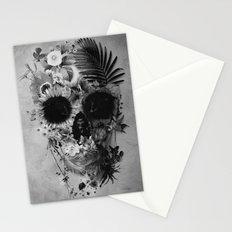 Garden Skull B&W Stationery Cards