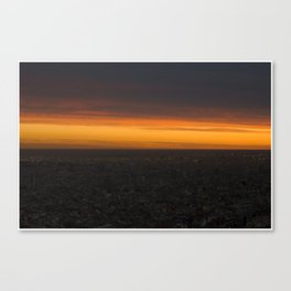 Bcn in the sunset Canvas Print