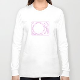 Neon Turntable 2 - 3D Art Long Sleeve T-shirt
