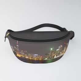 Toronto at Night from Polson Pier Fanny Pack