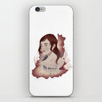 ellie goulding iPhone & iPod Skins featuring Ellie by Natalie Lucht