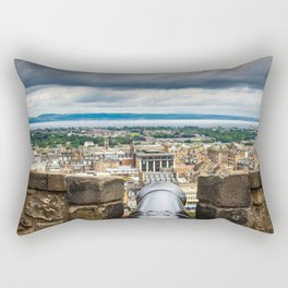 View of Edinburgh, Scotland from Edinburgh Castle Rectangular Pillow