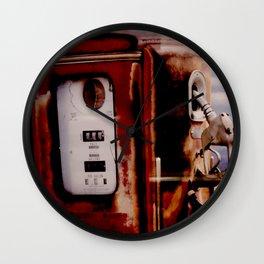 Old Gas Pump Wall Clock