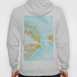 Aloha - Tropical Palm Leaves and Gold Metal Foil Leaf Garden Hoody