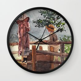 12,000pixel-500dpi - Winslow Homer1 - Spring - Digital Remastered Edition Wall Clock